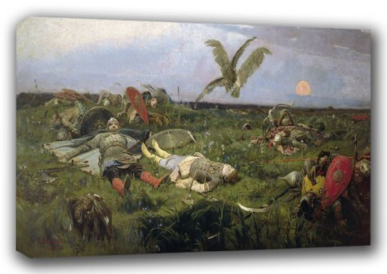 Vasnetsov, Viktor: After the Battle between Prince Igor Svyatoslavich of Kiev and the Polovtsy, 1880. Fine Art Canvas. Sizes: A3/A2/A1 (00585)